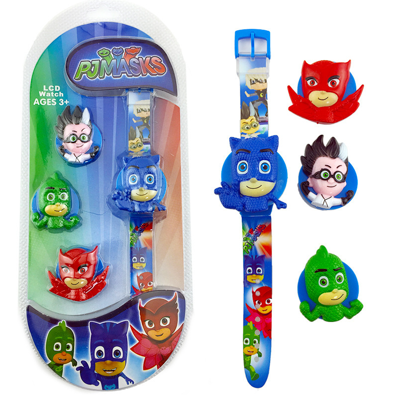 Pj Masks Original Watch Anime Figure Toy Cute Flip Cover LED Watch Action Figures New Cartoon Watch