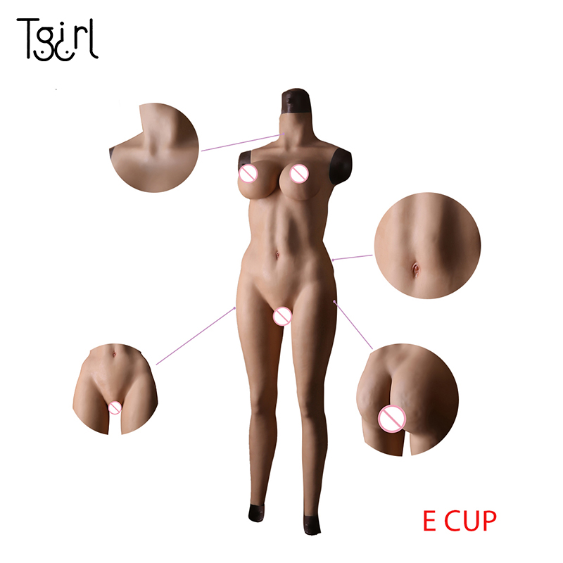 Shemale Crossdressing Silicone Female Body Suit Ankle-length Pants E Cup Silicone Breast For Transgender Crossdresser Dragqueen