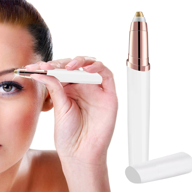Lipstick Trim Brows Eyebrow Trimmer Instant Painless Shaving Eye Brow Epilator For Women Eyebrow Shaver Trimmer Battery Type