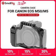 هيكل قفصي الشكل للكاميرا الصغيرة M50 لكانون EOS M50/لكانون M5 ل Vlog ث/الناتو السكك الحديدية الباردة الحذاء جبل للفيديو تسجيل الدخول 2168