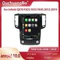 Ouchuangbo 7862 Android 10,0 для 12,1 дюймового Infiniti QX70 FX25 FX35 FX45 2012-2019 tesla Style автомобильное радио GPS navig 6 ГБ + 128 ГБ