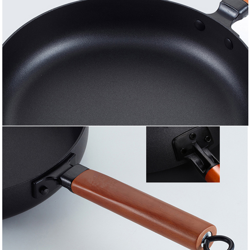 Vintage Non-Stick Gas Stove Induction Iron Pan 2