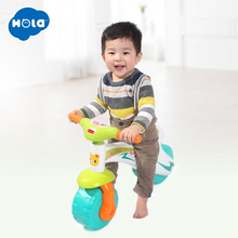 HOLA 2102 Toddlers Ride On Step Balance Bike Children Ride-On Toy Scooter Pedal Driving Bike Infant Baby Toys 1-3 years children scooter 3 wheel folding flash swing car lifting 2 15 years old baby stroller ride bike vehicle children toys gifts