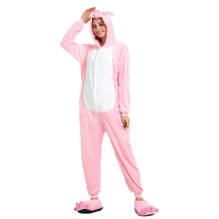 Couples MatchiFlannel Cartoon Animal One Piece Pyjamas For Adults, Boys And Girls, Lovely Home Clothes, Acting Clothes, Kigurumi