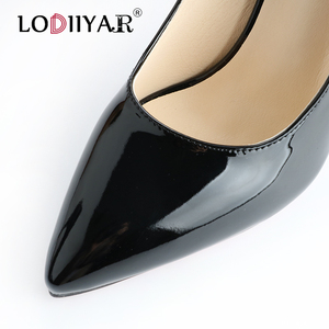 Image 3 - Pumps Women Shoes Pointed Toe  Red Bottom High Heels Patent Leather Classic Pumps Party Wedding High Heels Shoes Big Size Pumps