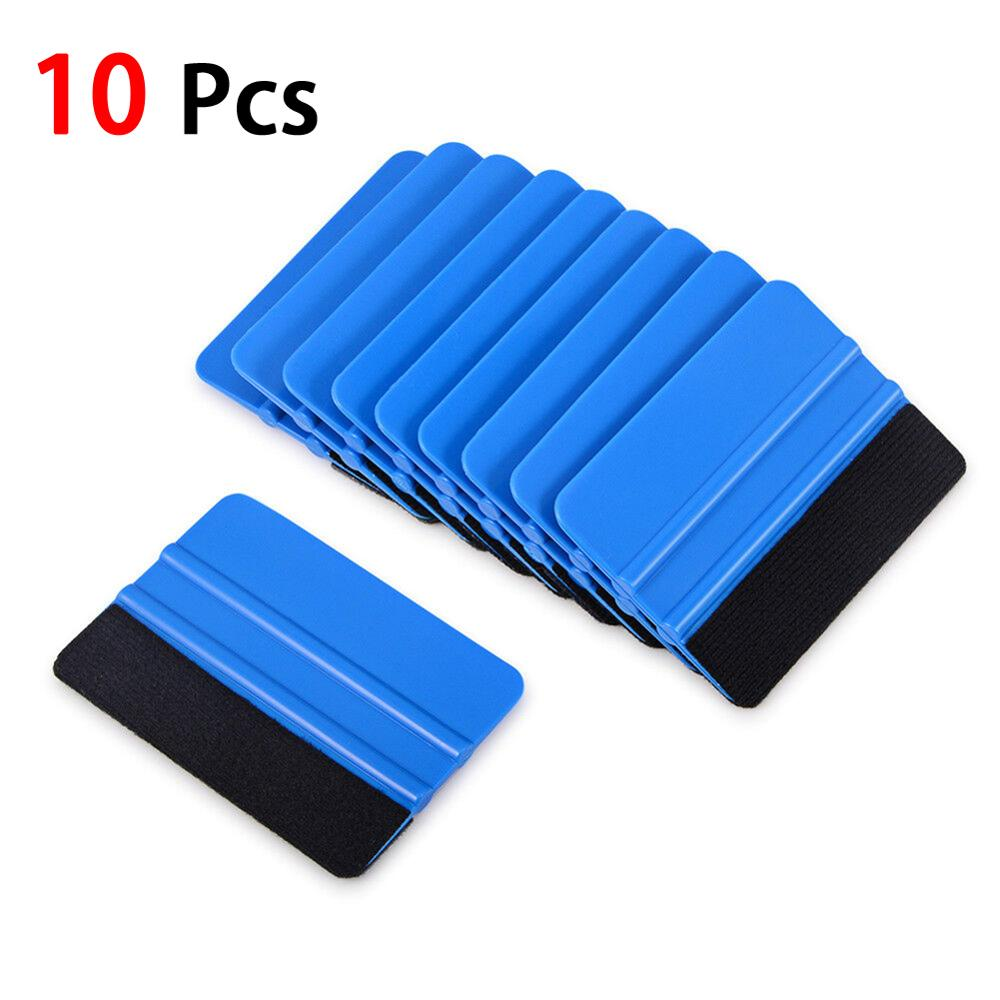 High Recommend 10Pcs Durable Blue Squeegee Felt Edge Scraper Car Decals Vinyl Wrapping & Tint Tools Wholesale Quick Delivery CSV