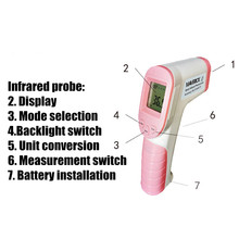 Digital Thermometer Non-Contact Forehead Coronavirus Electronic Infrared Thermometer Battery Fever Meter Quick Spot Delivery [sa] new phcenix contact power trio ps 3ac 24dc 20 spot