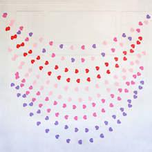 4 измеритель сердечного dots бумажные флаг вечерние гирлянда с колокольчиками украшения баннер овсянка для вечеринок и свадебных церемоний д...