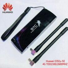 Разблокированный 4G Модем HUAWEI E392u 92 4G usb dongle plus 4G антенна 100 Мбит/с карта данных TDD2300/2600 МГц