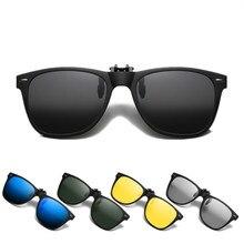 Polarizado flip up clip em sungalsses fotochromic tamanho grande espelho azul lente de condução óculos de sol de pesca uv400 em mudança de cor