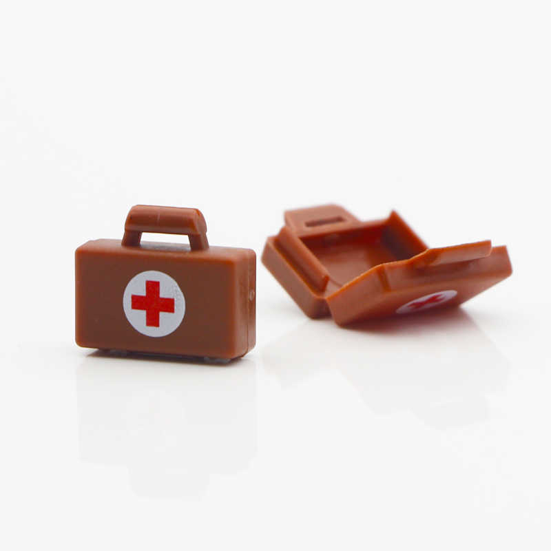 軍事アクセサリーハンドバッグビルディングブロックドクター医療キットバッグ病院 MOC 互換性レンガのおもちゃ LegoINGlys 市部品