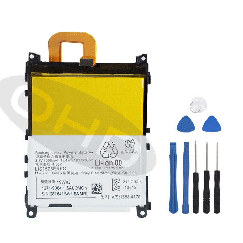 Original Replacement Battery For SONY L39h Xperia Z1 Honami SO-01F C6902 C6903 LIS1525ERPC Genuine Phone Battery 3000mAh