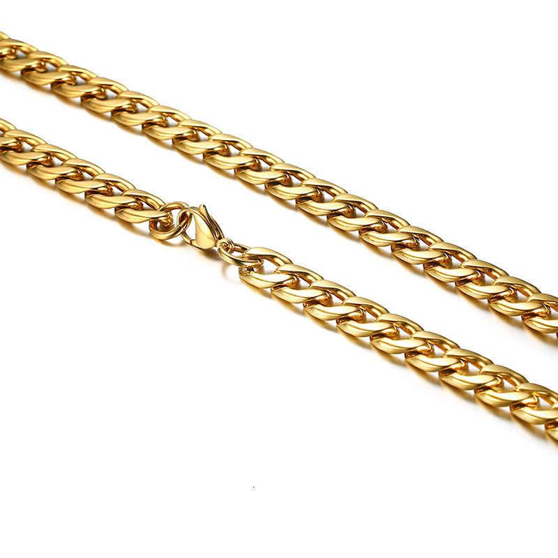 """Ton or ID Tag Ultra Premium placage épais 12mm Miami cubain lourd lien chaîne collier pour hommes en acier inoxydable mâle bijoux 29"""""""