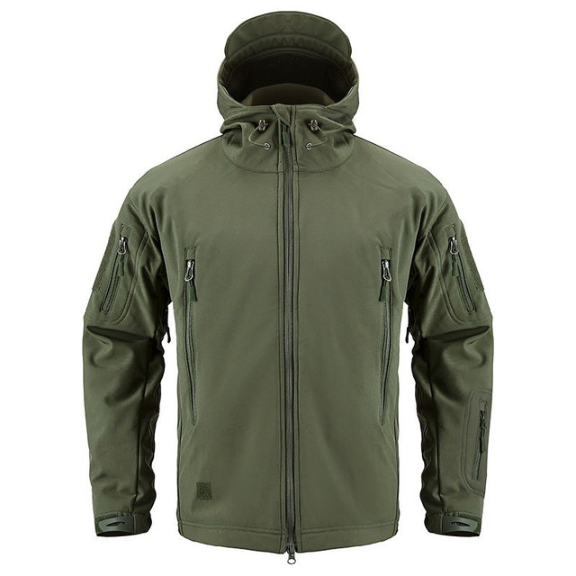 Shark Soft Shell Military Tactical Jacket Men Waterproof Warm Windbreaker US Army Clothing Winter Big Size Men Camouflage Jacket 2