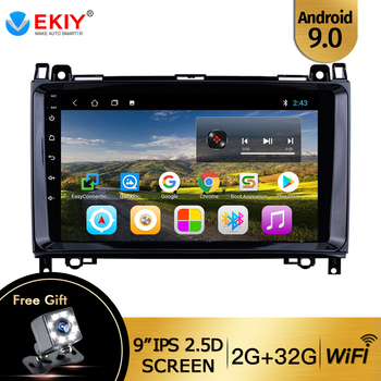 EKIY 9'' Android 9.0 Car Multimedia Player 2 Din GPS Autoradio For Mercedes Benz B W245 B150 B160 B170 B180 B200 B55 2004-2012 image