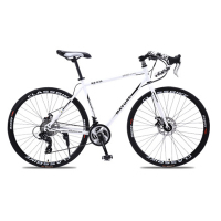 700c aluminum alloy road bike 21 27 and 30 speed road bicycle double disc brake road bike Ultra-light bicycle 1