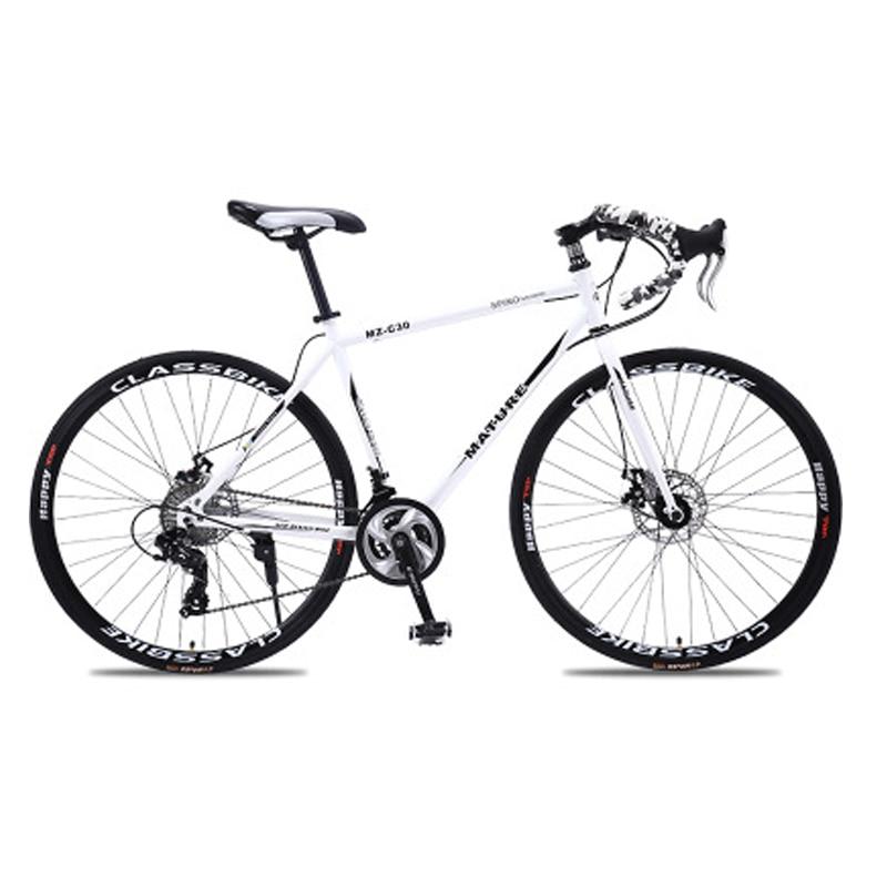 Дорожный велосипед 700c из алюминиевого сплава, ульсветильник с двойным дисковым тормозом, 21 27 и 30 скоростей