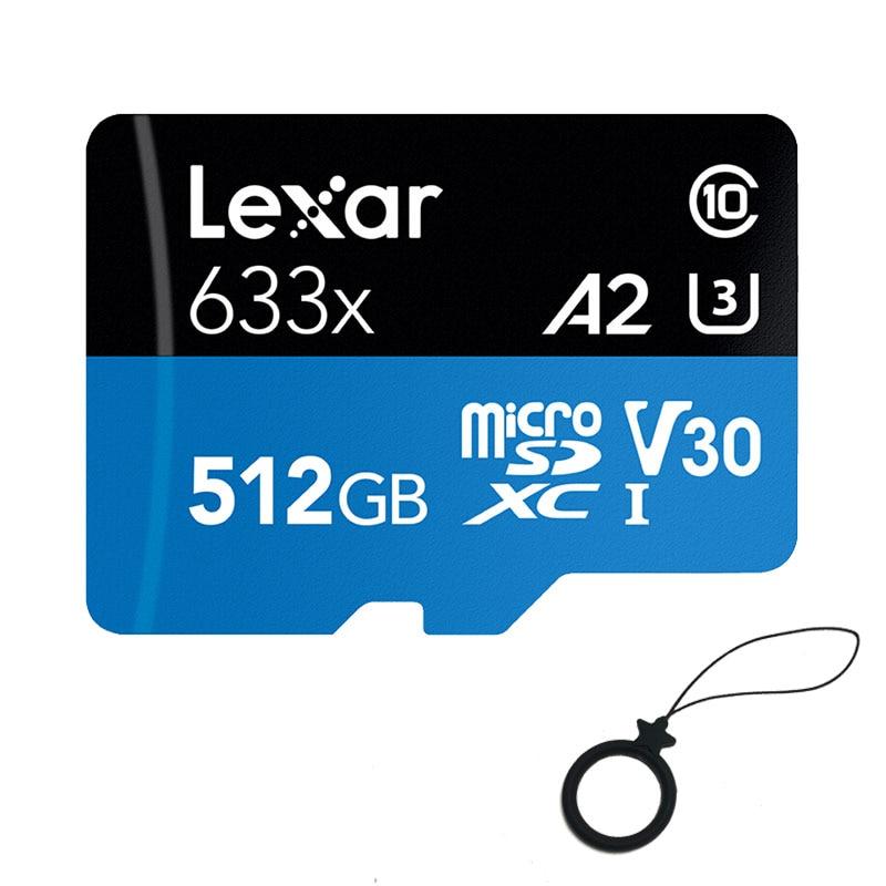 Оригинальная карта Micro SD Lexar 633x512 ГБ, карта памяти 256 ГБ 64 ГБ, высокая скорость до макс. 95 м/с 128 ГБ C10 для Gopro Nintendo switch