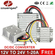Szwengao 12 v a 24 v 1a 2a 3a 5a 8a 10a 12a 15a 20a intensificar o conversor dc 12 volts ao regulador de tensão do impulso de 24 volts