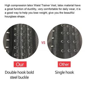 Image 5 - 25 عظام الصلب اللاتكس سترة مدرب خصر ملابس داخلية للتنحيل Bodsuit حزام تخسيس النمذجة حزام تخفيف محدد شكل الجسم الصدرية