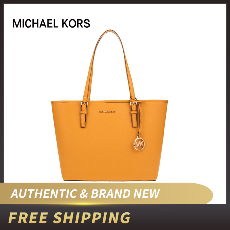 Authentic Original & Brand New Michael Kors JET SET TRAVEL 35H7STVT2L CARRYALL TOTE Schwarz Leather Bag Women Bag/womens' Pouch