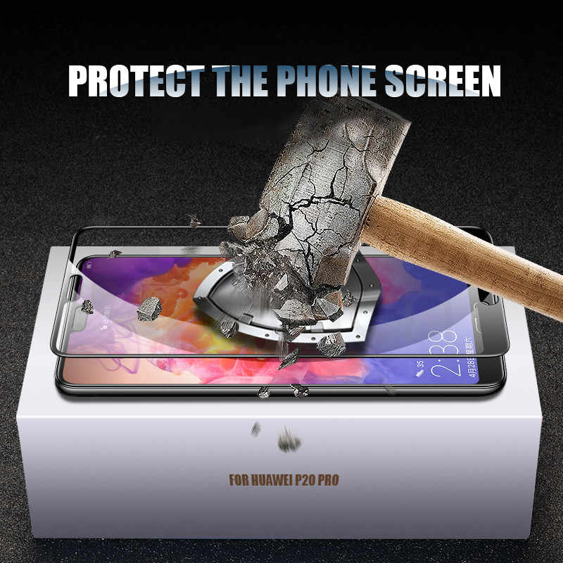 9D Glass on the For Huawei P20 Pro Lite Plus Screen Protector Tempered Glass For Huawei P10 P9 Lite Plus P Smart Protective Film