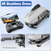 F4 Drone GPS 5G WIFI 2KM FPV Wth 4K HD Camera 2-Axis Gimbal Optical Flow Positioning Brushless Foldable Quadcopter Drone VS T58