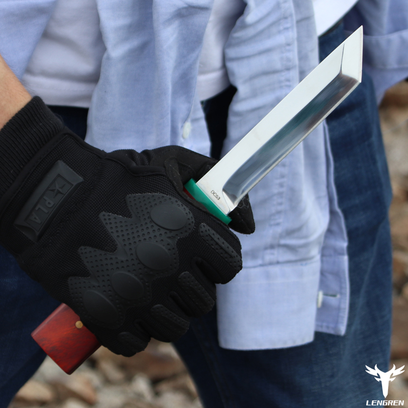 Steel Knife Samurai LENGREN Japanese DC53 Sword Hunting Sharp Blade Heat Treatment Camping 62hrc Vacuum Knife60