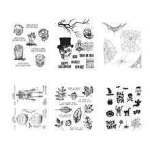 16*20CM 2019 DIY New Stamps For Scrapbooking And Clear Stamps Halloween Cling Mounted Rubber Stamp Set Account Craft Set(China)