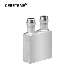 KEBETEME Aluminum Liquid-Water Cooling Block For Computer CPU Radiator for PC And Laptop CPU Silver Heat Sink System