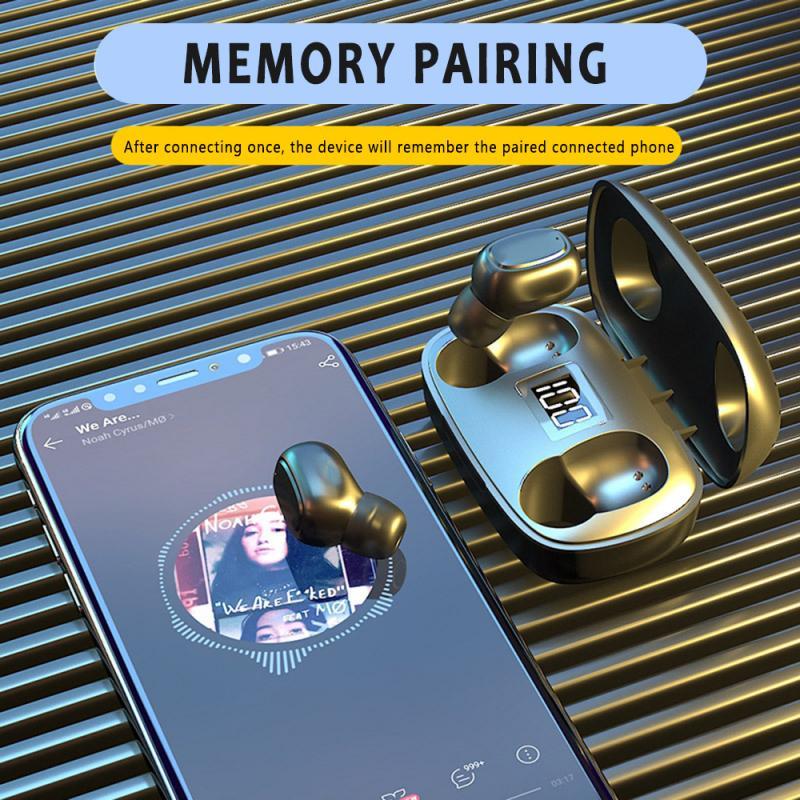 Auriculares TWS Bluetooth 5,0, auriculares inalámbricos con cargador de 300mAh, auriculares estéreo deportivos a prueba de agua con micrófono Orejera electrónica táctica caliente para disparar deportes al aire libre, auriculares antiruido, auriculares de protección auditiva de amplificación de sonido de impacto