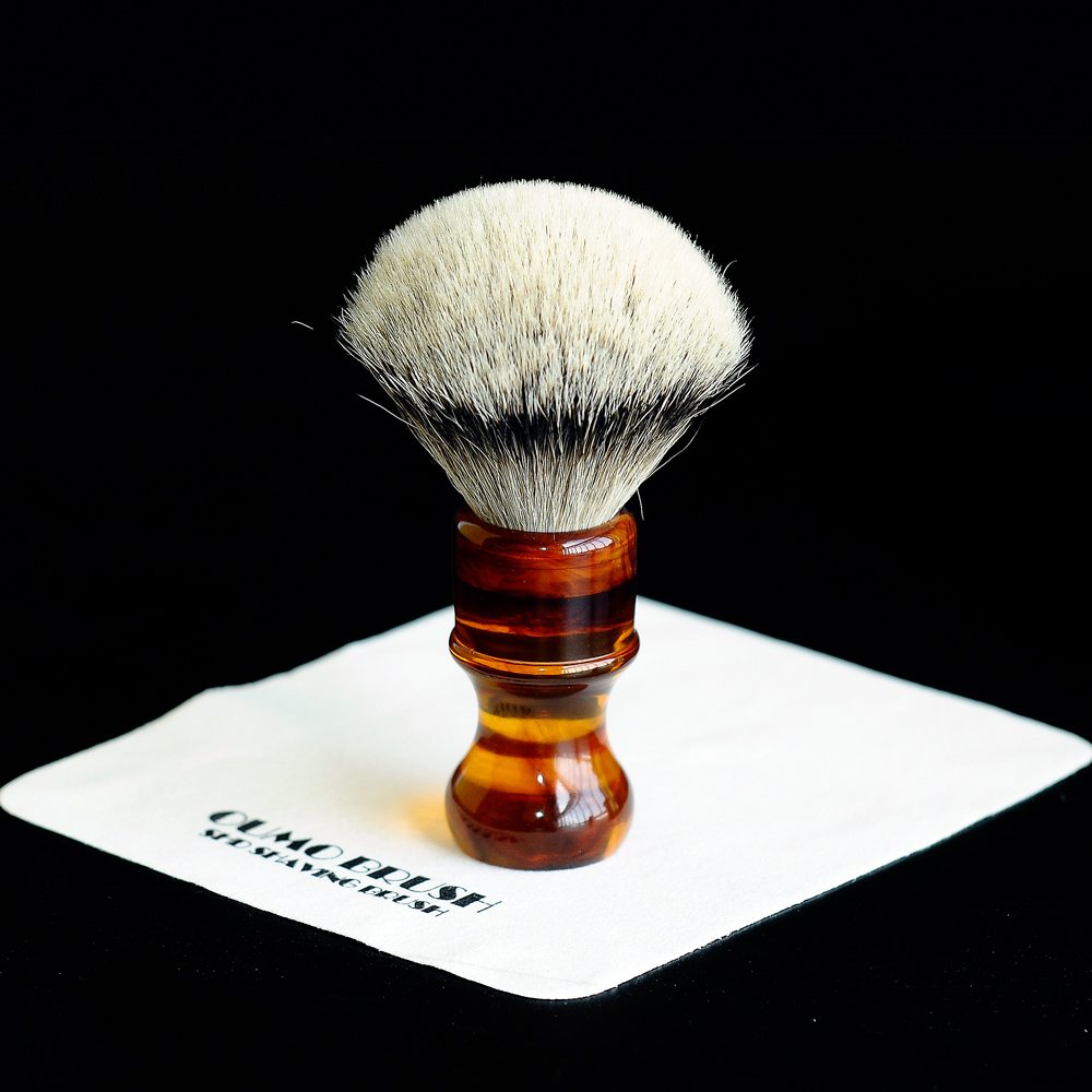 Image 2 - OUMO BRUSH amber resin handle shaving brushes with different shaving brush knots-in Shaving Brush from Beauty & Health