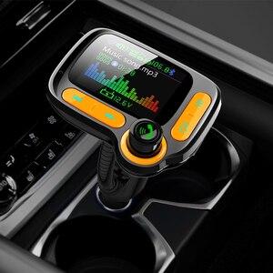 Image 2 - Deelife Bluetooth eller serbest araç kiti Fm verici modülatör için otomatik USB MP3 oynatıcı BT 5.0 adaptörü eller serbest ses alıcısı