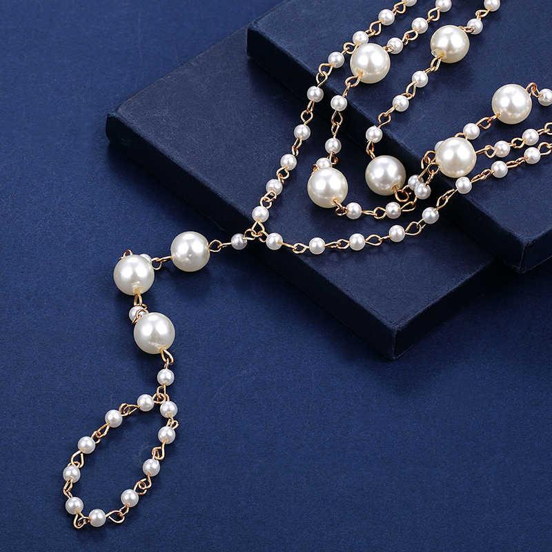 Moda dzikie perły anklet kobieta plaża boso sandały noga łańcuch dziewczyna trójwarstwowe wykonane ręcznie wyszywane koralikami toe anklet biżuteria akcesoria