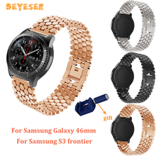 Metal watch band 22mm For Samsung Galaxy 46mm/gear S3 strap Replacement wristband For huawei watch GT with adjust tool Bracelet stainless steel for huawei watch gt watches strap 22mm for samsung galaxy 46mm gear s3 watch band replacement bracelet wristband