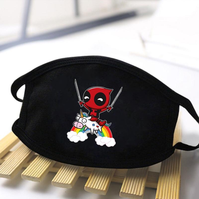 2020 Marvel Deadpool Print Dustproof Masks Unisex High Quality Face Mask Streetwear Reusable Mouth Muffle Skin Friendly Mask