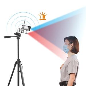 1080P цифровой экран Инфракрасный Тепловизор камера умное измерение температуры тела высокая температура сигнализация с штативом
