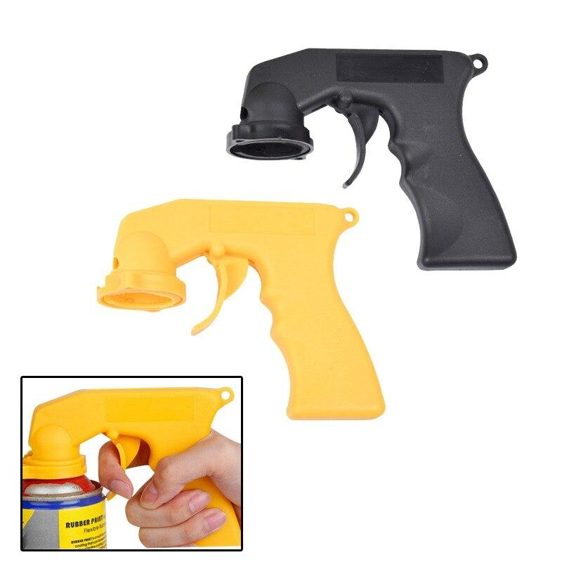 Spray Adaptor Paint Care Aerosol Spray Gun Handle with Full Grip Trigger Locking Collar Maintenance Repair Tool Car Accessories