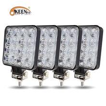 OKEEN Новый светодиодный светильник бар машинка для стрижки 48 Вт светодиодный бар 16barra квадратный Точечный светильник внедорожный светодиодн...