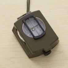 Светящаяся металлическая компаса Высокоточный компас K4580 Магнитный Водонепроницаемый ручной профессиональный Компас для охоты и кемпинга