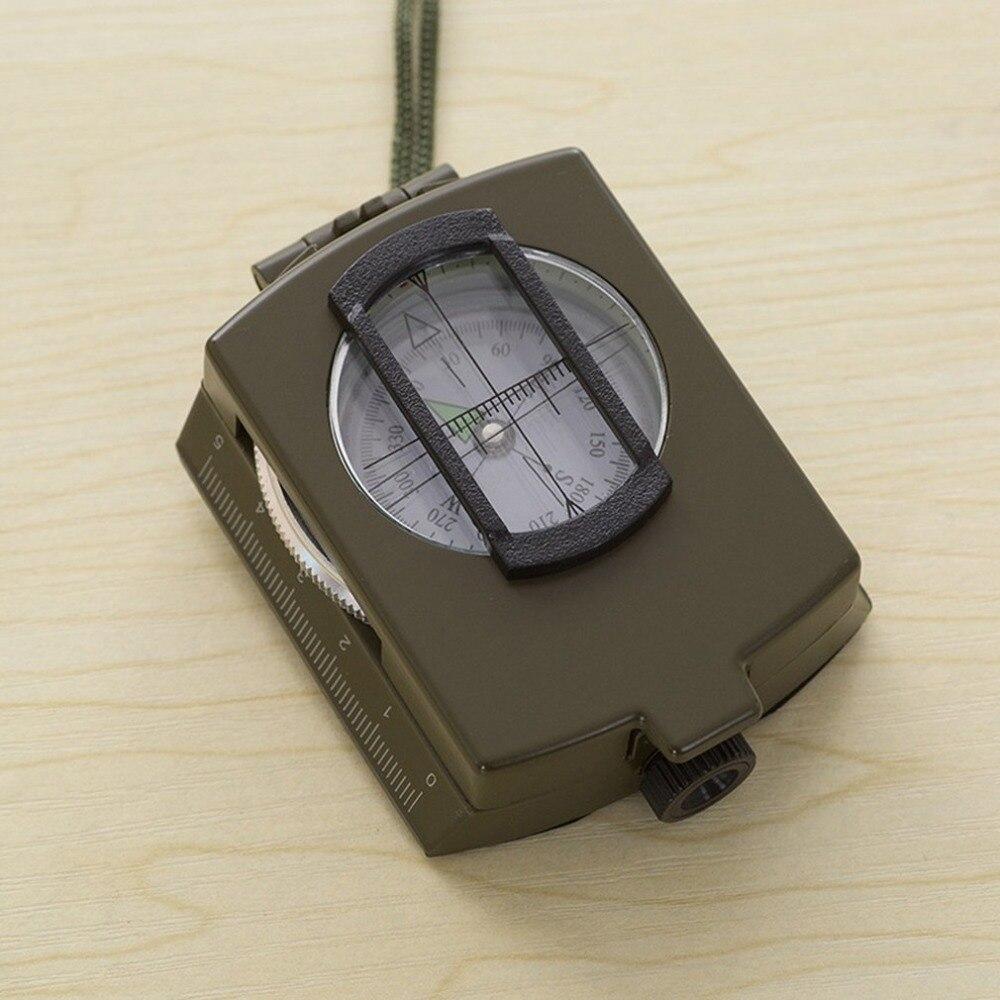 Bússola de metal luminoso alta precisão bússola k4580 magnética à prova dwaterproof água mão bússola profissional para a caça acampamento