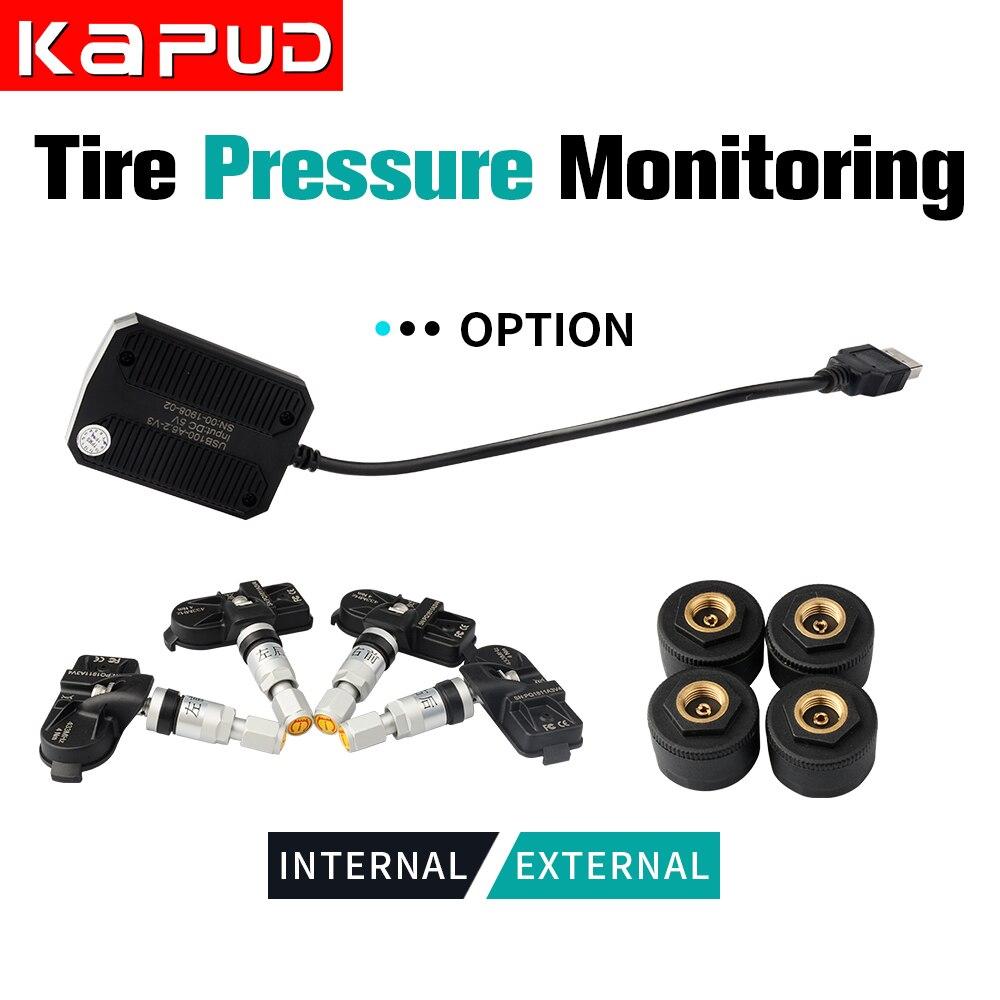 Kapud car TPMS universal Android nawigacja monitorowanie ciśnienia w oponach 4 wewnętrzny czujnik alarmu w oponach