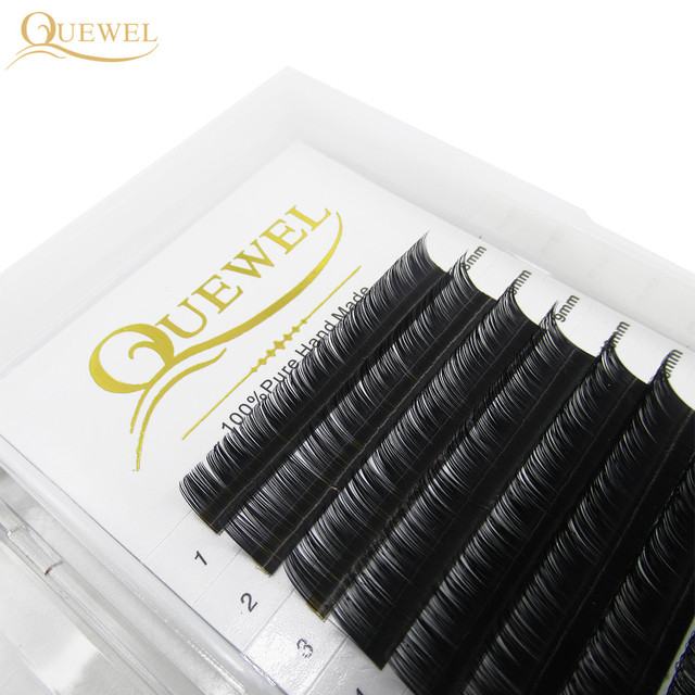 Quewel Eyelash Extension 12 Lines/Tray Silk Cilios Soft Professionals Individual Eye Lash Extensions C/CC/D Curl  False Lashes 3