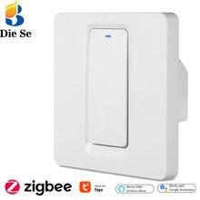 Zigbee Smart Leben WiFi Push-Taste Licht Schalter 1/2/3gang Single Wohnzimmer Linie Tuya Fernbedienung voice Control Arbeit Mit Alexa