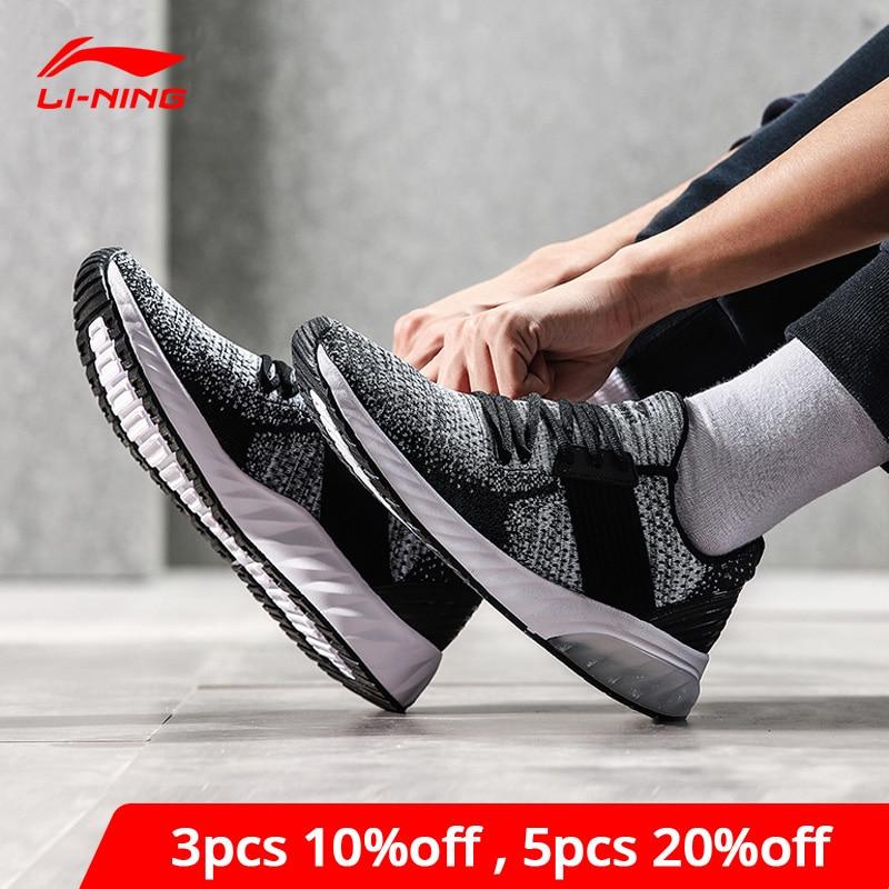 Li-Ning Men GEL KNIT Lifestyle Shoes Mono Yarn Breathable LiNing Li Ning Sport Shoes Wearable Anti-Slip Sneakers AGLN041 YXB132
