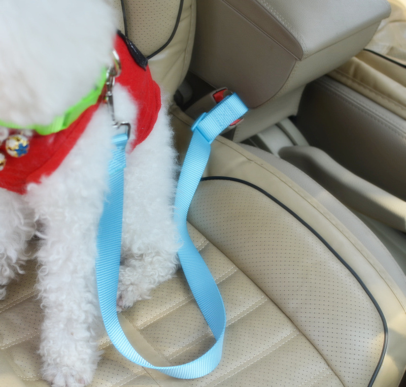 Pet Nylon Tow Rope Chain Traction Belt Dog Automobile Safety Belt Dog Traction Rope Chair Sling