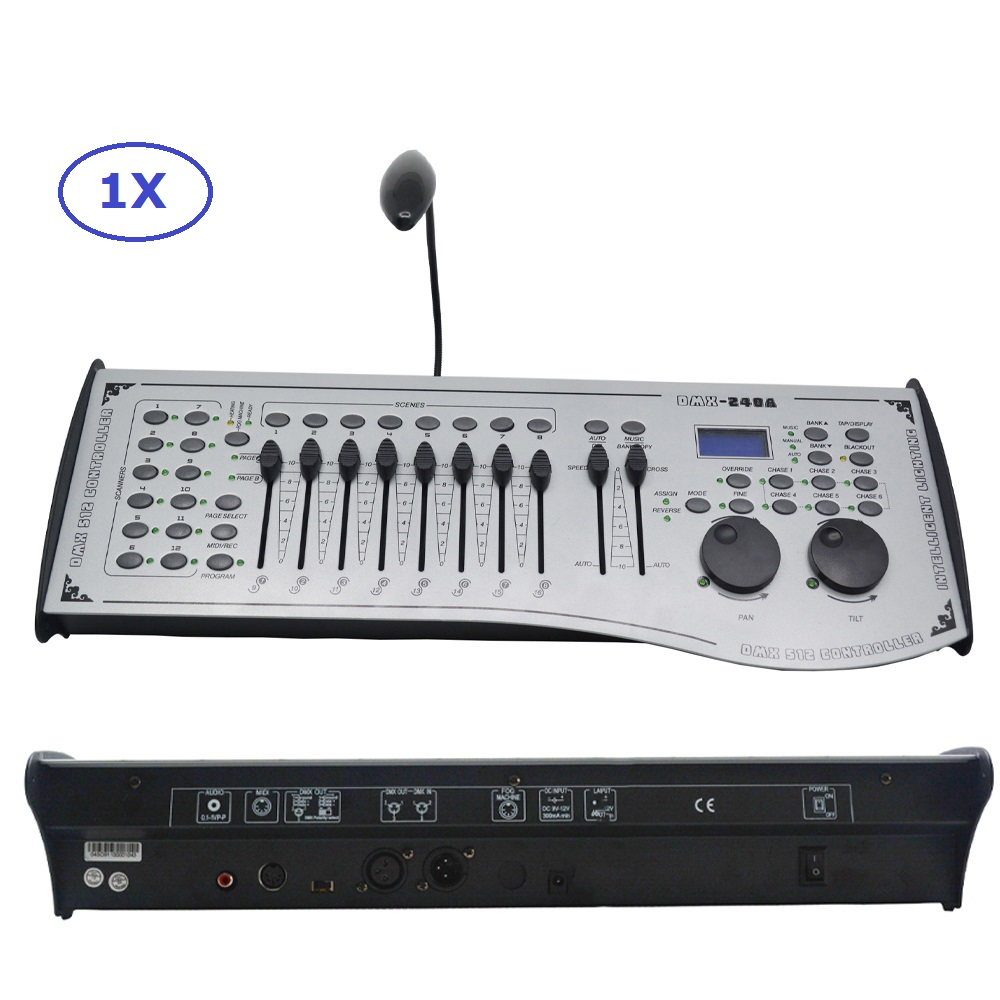 Free Shipping DMX240 Console DMX 512 Controller 192 Channels Professional DJ Disco Controller Equipment Led Moving Head Lights