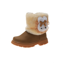 2019 Cartoon Children Winter Girls Shoes Kids Boots For Girl Fashion Snowboots Baby Fur Warm Toddler 1 2 3 4 5 6 Year Old