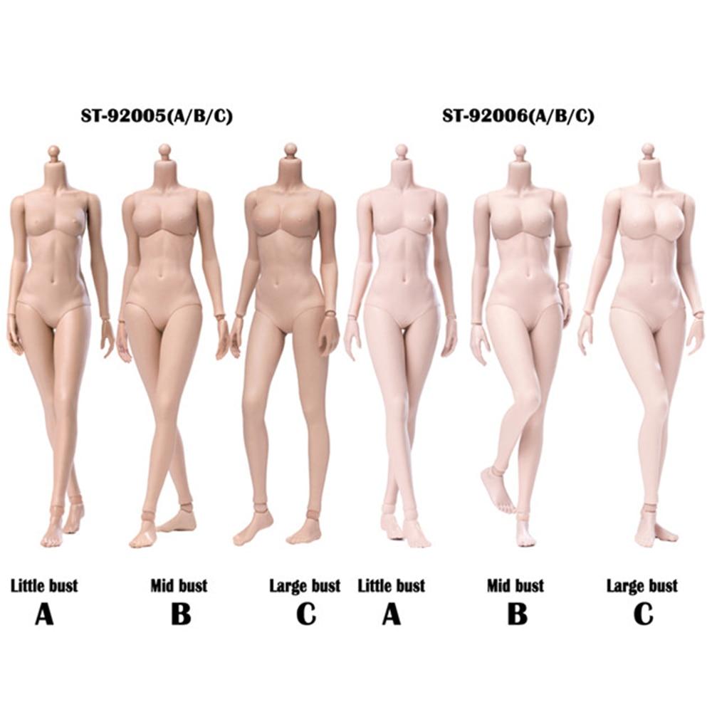 1//6 Scale Female Nude Figure Body Doll Large Bust Tan Skin Tone