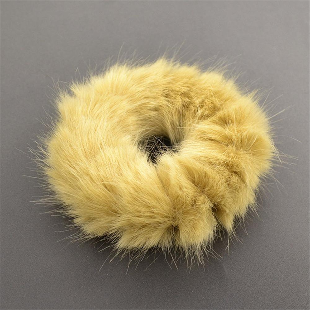 Милые эластичные резинки для волос для девочек, искусственный мех, резиновое эластичное кольцо, веревка, пушистый галстук, аксессуары для волос, меховые резинки, повязка на голову - Цвет: A7
